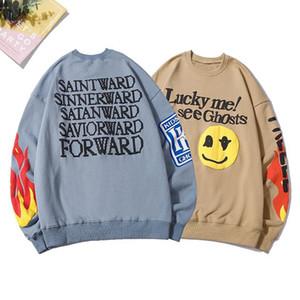 Erkek Kadın Tasarımcılar Giysileri Hoodies 2020 Şanslı Me Ghosts Kazak O-Boyun Hoody Sweatershirts Streetwear Hip Hop Büyük Boy M-XXL