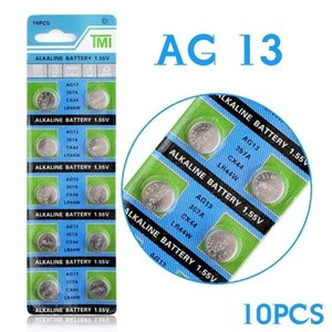 Ycdc Drop Shipping +hot Selling+ 10pcs Ag13 Lr44 Lr1154 Sr44 A76 357a 303 357 Battery Coin Cell 1.55v Alkaline For Watches Toys sqchah