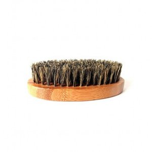 Bamboo Beard Brush Boar Bristles Wooden Oval Facial Cleaning Men Grooming No Handle Hair Brushes New Arrival 4 8zc G2