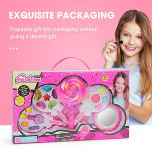 Children's Play House Four-layer Lollipop Cosmetic Infant Girl Makeup Toys NON-TOXIC Pretend Kit Princess Beauty Toy Set Fashion Girls' Gift