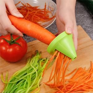 Utensili da cucina frutta vegetale multi-funzione spirale trituratore pelapato manuale patata carota ravanello rotante shredder grattugia w-00634