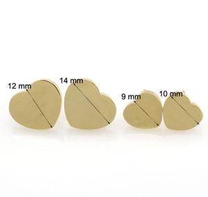 2019 Popular Earrings Stainless Steel Heart Earrings Hypoallergenic Titanium Steel Rose Gold Silver Stud jllLMV ffshop2001