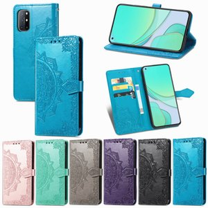Mobile Phone Case for 1+8T PU Leather Flowers with Magnetic Buckle(Suitable for Model:Oneplus8T 1+8T)