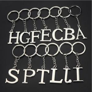 Moda inglés alfabeto llavero metal simple color puro anti desgaste llavero creativo unisex popular letras llaves anillo yhm833