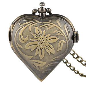 Beautiful Vintage Watches for Women Necklace Pendant Loverss Jewelry Valentines Gift Romantic Quarzt Pocket Watch Fancy Locket