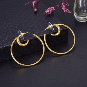 Hot Selling Explosive Simple Double Ring Personality Wild Designer Earrings luxury designer jewelry women earrings