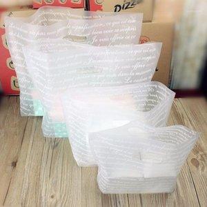 Подарочная обертка 40x31см 50 шт. Большой алфавит напечатанные пластиковые сумки с ручкой прозрачный бутик-ткань упаковки пакет1