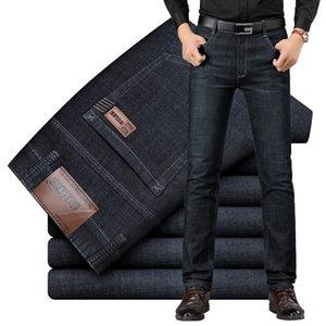 Jeans de la marque SULEE Design exclusif Craché décontracté Denim Jeans Hommes Slim Slim Taille moyenne Stretch Hommes Jeans Vaqueros Hombre 201120