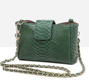 Best-selling new all-match shoulder bag summer fashion chain bag snake pattern convenient messenger small square bag