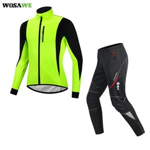 Winter Long Cycling Jersey Set Bike Bicycle Long Trousers Ropa Ciclismo Bicycle Clothing MTB Jersey Thermal Fleece Bike Clothes