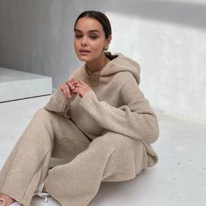 N15 Avrupa ve Amerikan Sıcak Sonbahar Kış 2020 Yeni Standı Yaka Ekleme Boş Zaman Spor Suit Kadınlar için