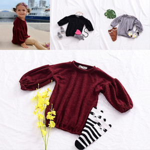 Puff Sleeve Girls Clothing Spring Autumn Children Infant Blouses Solid Color Kids Pullover Popular Comfortable New Arrival 17tn G2