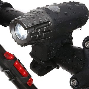 Bike Light Rear Bicycle Headlight - Night Rider USB Rechargeable LED Front Flashing Bike