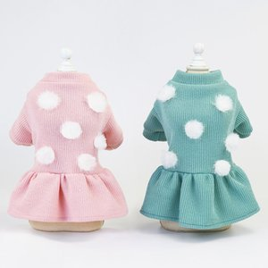 Winter Pet Clothes Dot Dog Dress For Dogs Skirt Autumn Dog Wedding Dresses Yorkshires Clothes For Chihuahau Pet Cat Dress