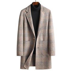 Mans Mans Hiver Nouvelle marque Automne Double côté Laine Hommes en laine mélanges de laine Manteaux Couleur de haute qualité Veste laine de haute qualité pour hommes