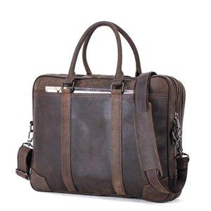 Affairs More Leisure Function Business Time Real Men Leather Portable Genuine Briefcase Man Oblique Satchel Messenger Bag Ccccb