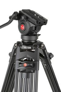 1.8M Viltrox VX-18M برو Heay واجب الألومنيوم الفيديو ترايبود + السائل بان رئيس + تحمل حقيبة للكاميرا DSLR DV Y1117 مستقر جدا