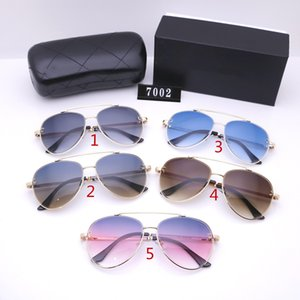 Five colors Fashion men and women aviator sunglasses luxurys designers sunglasses high quality driving polarized glasses with BOX 7002