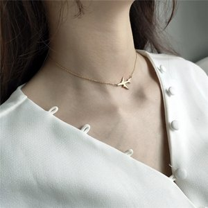 RUIYI Real 925 Sterling Silver Minimalist Women Exquisite Plane Charm Chokers Girls Fashion Delicate Jewelry Cute Short Necklace Z1126