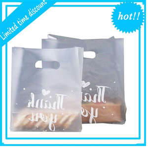 Thank You Gift Bread Storage Shopping Bag with Handle Party Wedding Plastic Candy Cake Wrapping Bags WB2177