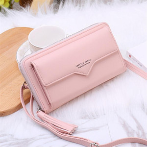 Fashion Long Shoulder Bag Woman New Designer Female Wallet PU Leather Ladies Coin Purses Card Holder Women Phone Bags