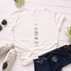 New Moon Planet Print T Shirt Women Harajuku Shirts Funny Loose Short Sleeve Summer T Shirt Plus size Tops Sailor Moon shirt