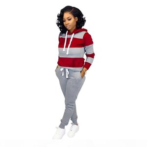 Womens Casual Fashion Autumn Spring Long Sleeved 2 Piece Woman Jogger Set Ladies Fall Tracksuit Sweat Suits Plus Size S-2XL