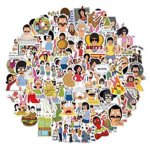 100 PCS Mixed Car Stickers Bob Burger Store For Laptop Skateboard Stickers Pad Bicycle Motorcycle PS4 Phone Luggage Helmet Pvc Guitar Decal