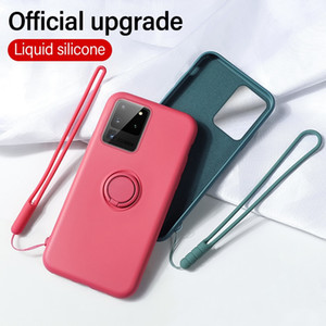 2021 NEW Ultra-thin Silicone Magnetic Holder Phone Case for Samsung galaxy S20 S10 E 5G S9 S8 Note 20 10 9 Plus Stand Ring Bracket Cover