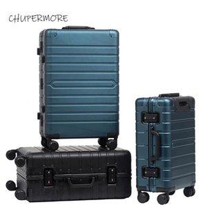 Chupermore 100% in lega di alluminio-magnesio rotolamento bagaglio spinner 20/24/29 pollici Dimensioni Valigia di alta qualità Ruote per valigia da uomo Trelley LJ201118