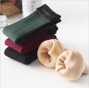 Chaussettes d'hiver Chaussettes d'hiver avec velours Bas coton épaissi en velours Sol Warm Hosiery Solide Solide Sous-Vêtements Sous-vêtements Mer DDC5186