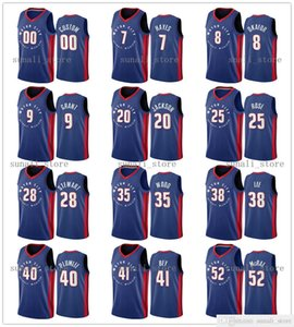 2020-21 City Blue Mason Plumlee Blake 23 Griffin Killian Hayes Derrick 25 Rose 41 Bey Josh Jackson Jerami 9 Grant Stewart Jerseys Edition