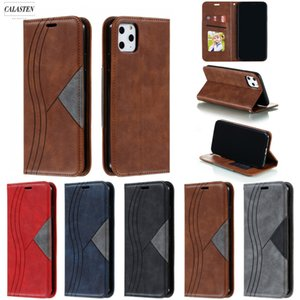 Geometric Leather Flip Case For iPhone 12 Mini 11 Pro Magnetic Card Slot Wallet Cover For iPhone X XR XS Max 8 7 6 6S Plus Coque