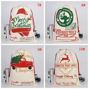 Christmas Santa Sacks Many Styles Large Drawstring Gift Bag Santa Claus Deer Enough Big Candy Bags Christmas Festival Decoration DBC BH4619