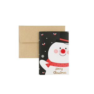 Santa Claus Mini Greeting Cards Message Xmas Christmas Holiday Blessing Tree Hanging Ornaments Santa Claus Paper Craf
