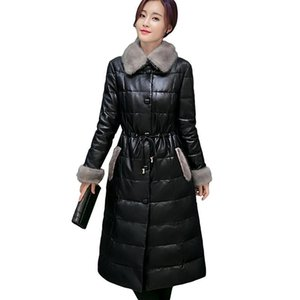 2020 New White Duck Down Jacket Slim Sheep Skin fur Collar Coat Warm Winter Down Coat Fashion Women