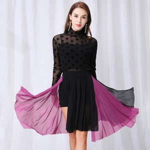 New Latin Dance Skirt Women Dance Clothes Adults Swing Practice Skirt For Performance Wear Cha Cha Rumba New Costume BI549