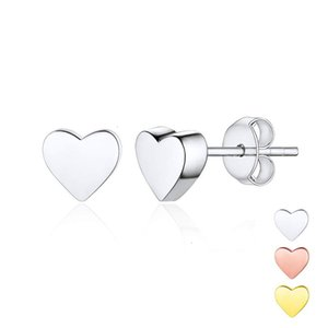 Cute Stainless Steel Minimalist Small Heart Love Korean Style Stud Earrings for Lady Women Bridesmaid Gift Jewelry