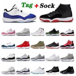 25-летие Обувь Баскетбольные Мужчины Jumpman 11 ManbasketBallshoes 72-10 Выведенные низкие Concord UNC 11s Cap и Trainers Trainers Спортивные кроссовки