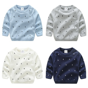 Spring Autumn 2 3 4 5 6 7 8 9 10 Years Old Teenage Christmas Gift O-Neck Knitted School Child Baby Kids Sweater For Boy 201203