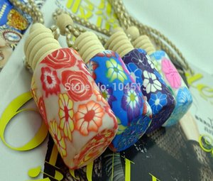 New fashion 10-15 ml Car hang decoration Ceramic essence oil Perfume bottle Hang rope empty free shipping
