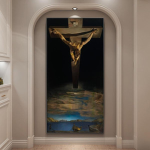 Salvador Dali The Christ Giclee Oil Paintings on The Wall Posters and Print Wall Hanging Pictures for Home Living Room Decor