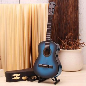 Miniature Wooden Guitar Model Display Mini Ornaments Craft Home Decoration Accessories Decoration Maison Kids Toy Wooden Guitar LJ200904
