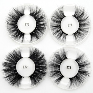 2020 Silk Protein 3D Eyelashes Beauty Makeup False Eyelash Long Thick Mink Lashes Round Box Full Strip Eye Lashes 28 Styles
