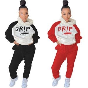 Women Two Pieces Outfits Long Sleeve Top Trousers Ladies New Fashion Pants Set Sportwear Tracksuits New Type Hot Selling klw5658