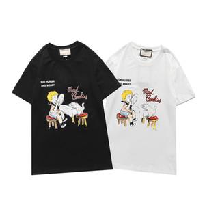 Мужские модные дизайнер Thirts Женские летние O-шеи пуловер футболки мужские футболки с коротким рукавом черные белые топы потрясающие футболки DB92 #