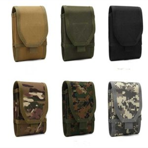 New Fashion Large Screen Double Layer Mobile Phone Bag Multifunctional Fan Tactical Mobile Phone Pockets Wear Belt Bag