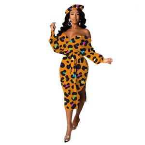 Kleider Mode Gedruckt Casual Bandage Womens Dresses Aushöhlen V-Ausschnitt Womens Bekleidung Luxus Designer Womens
