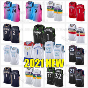 Sion 1 Williamson Jerseys Anthony Karl-Anthony 32 Villes Edwards 2021 Nouveau Minnesota