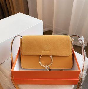 أزياء المرأة حقائب الكتف سيدة حلقة الكلاسيكية سلسلة crossbody الصغيرة حقائب اليد جودة عالية فتاة حقائب هدية حساسة مع مربع